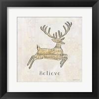 Framed Vintage Christmas Believe
