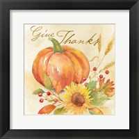 Framed Welcome Fall - Give Thanks