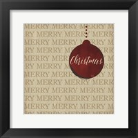 Framed Christmas Ornaments I