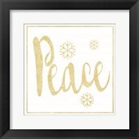 Golden Peace I Framed Print