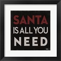 Framed Santa Cheer I