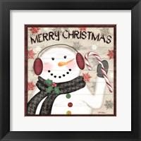 Framed Rustic Snowmen II