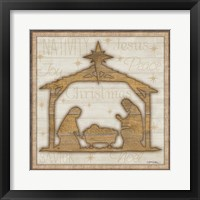 Framed Rustic Nativity