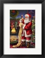 Framed Santa with his list