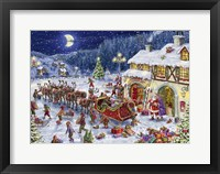 Framed Santa Sleigh and big moon