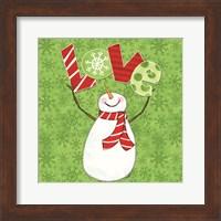 Framed Winter Wonderland Snowmen I