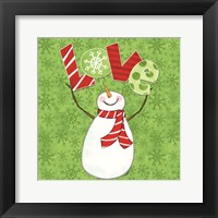 Framed Winter Wonderland Snowmen I