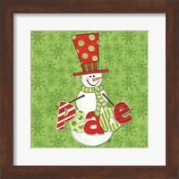 Framed Winter Wonderland Snowmen II
