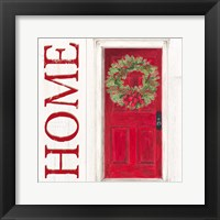 Framed Home for the Holidays Home Door
