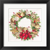 Framed Christmas by the Sea Wreath square