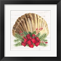 Framed Christmas by the Sea Scallop square