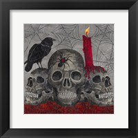 Framed Something Wicked 3 Skulls