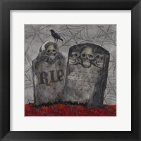 Framed Something Wicked Tombstones