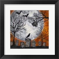 Framed Something Wicked Graveyard I Hanging Bat