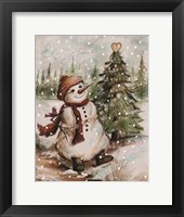 Framed Country Snowman I