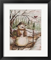 Framed Country Snowman II