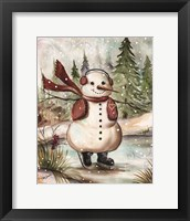 Framed Country Snowman III
