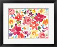 Framed Popping Florals