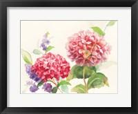 Framed Watercolor Hydrangea