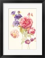 Framed Watercolor Flowers II