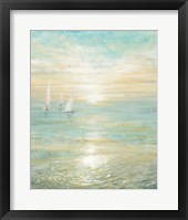 Framed Sunrise Sailboats I