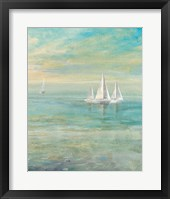 Framed Sunrise Sailboats II