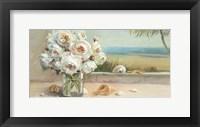 Framed Coastal Roses Crop