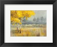 Framed Yellow Landscape