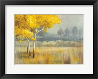 Framed Yellow Landscape