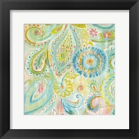 Framed Spring Dream Paisley XII