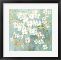 Framed Spring Dream I Butterfly and Bird