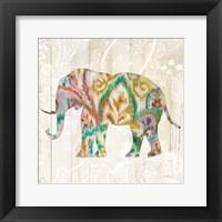Framed Boho Paisley Elephant II v2