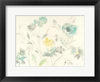Framed Aqua Roses
