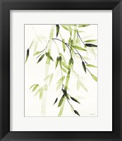 Framed Bamboo Leaves V Green