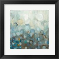 Framed Blue and Bronze Dots VIII