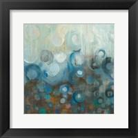 Framed Blue and Bronze Dots VII