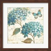 Framed Blue Garden V