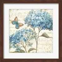 Framed Blue Garden IV