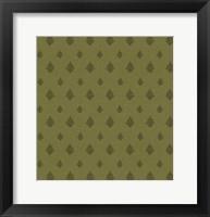 Framed Woodcut Pattern I