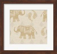 Framed Elephant Caravan Patterns I