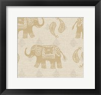 Framed Elephant Caravan Patterns I