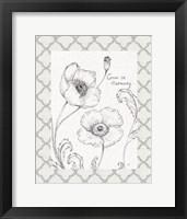 Framed Blossom Sketches Words I Border
