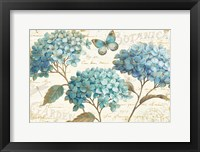 Framed Blue Garden I