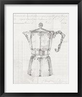 Framed Authentic Coffee III White Gray