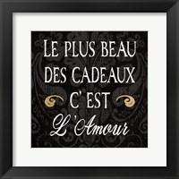 Framed Inspirational Collage I French on Black