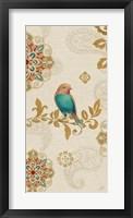 Framed Bird Rainbow Blue Panel