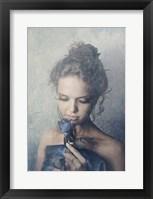 Framed Dark Rose