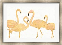 Framed Flamingo Fever I no Splatter Gold