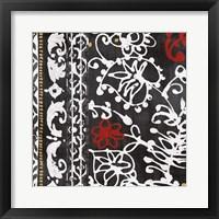 Framed Bali Tapestry I BW
