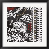 Framed Bali Tapestry II BW